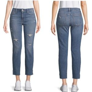 Joe's Jeans Fatima Straight Leg Raw Hem Ankle Jean